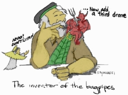 Bagpipe inventor